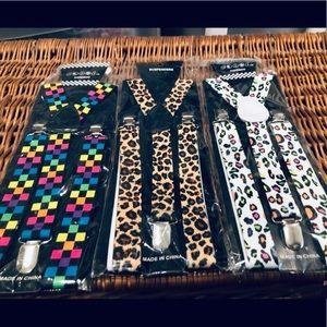 Accessories - Leopard print suspenders SUPER CUTE